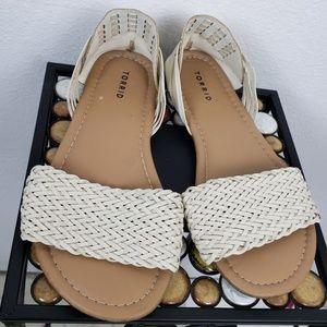 Torrid | White woven Sandals